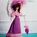 Crochet Barbie Doll 1903 Promenade Dress