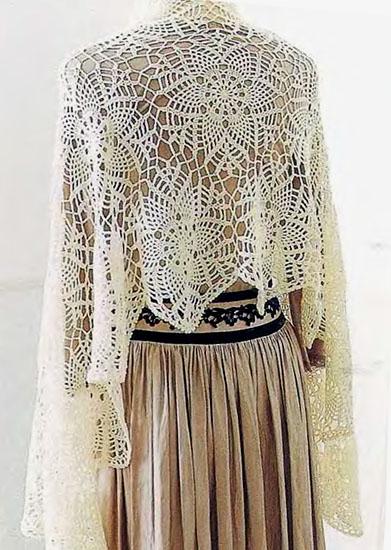 Delicate Lace Stars Crochet Shawl Pattern