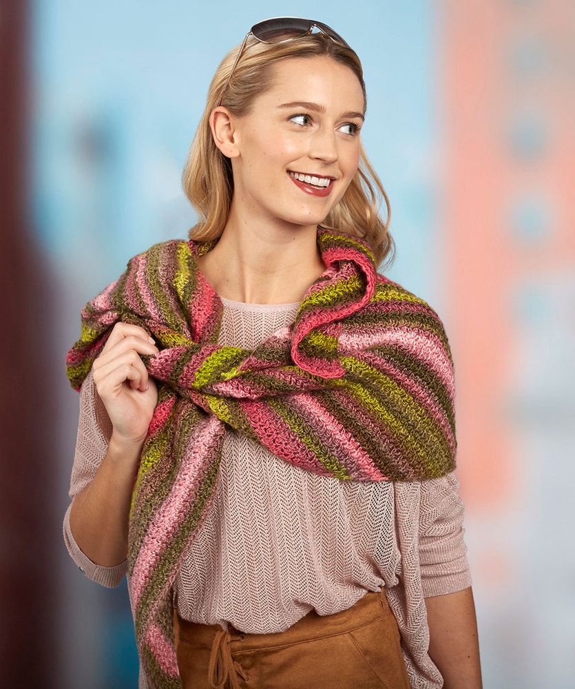 Oversized Crochet Scarf free pattern