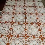 Square Tablecloth Motif Lace Free Crochet Pattern