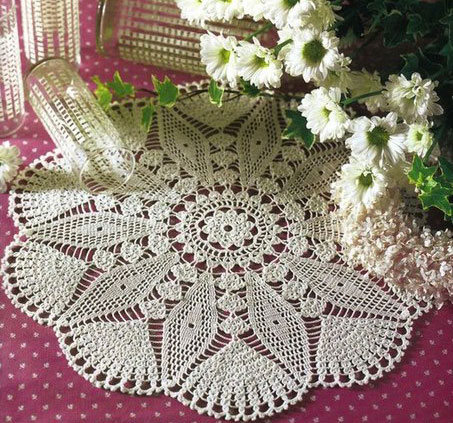 Star Doily Crochet pattern diagram