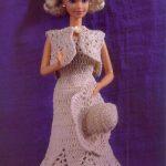 Toda una Señorita Vestido a Ganchillo para Barbie