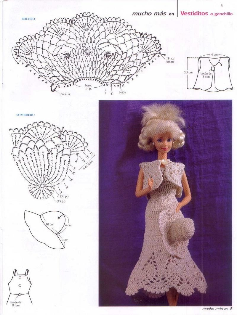 Toda Una Se 241 Orita Vestido A Ganchillo Para Barbie