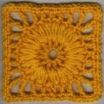 Wagon Wheel Puff Motif Pattern Free Crochet