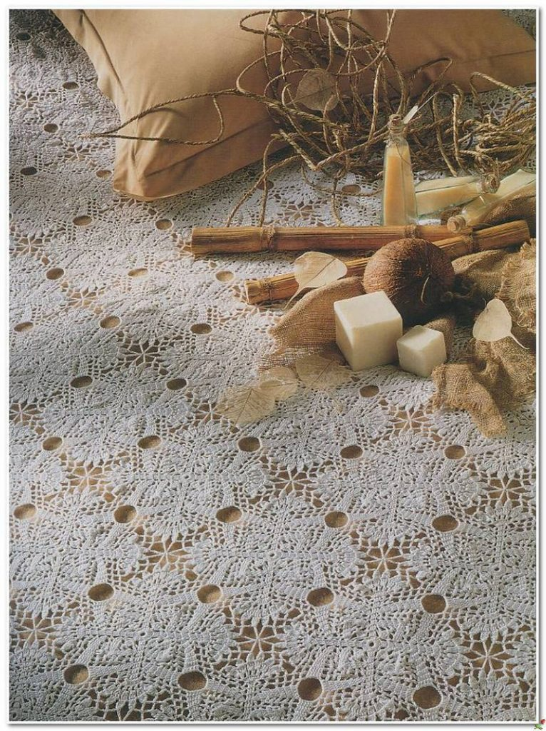 Wake Up Call Crochet Lace Tablecloth