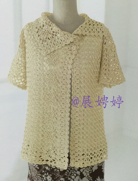 Shell Stitch Crochet Jacket