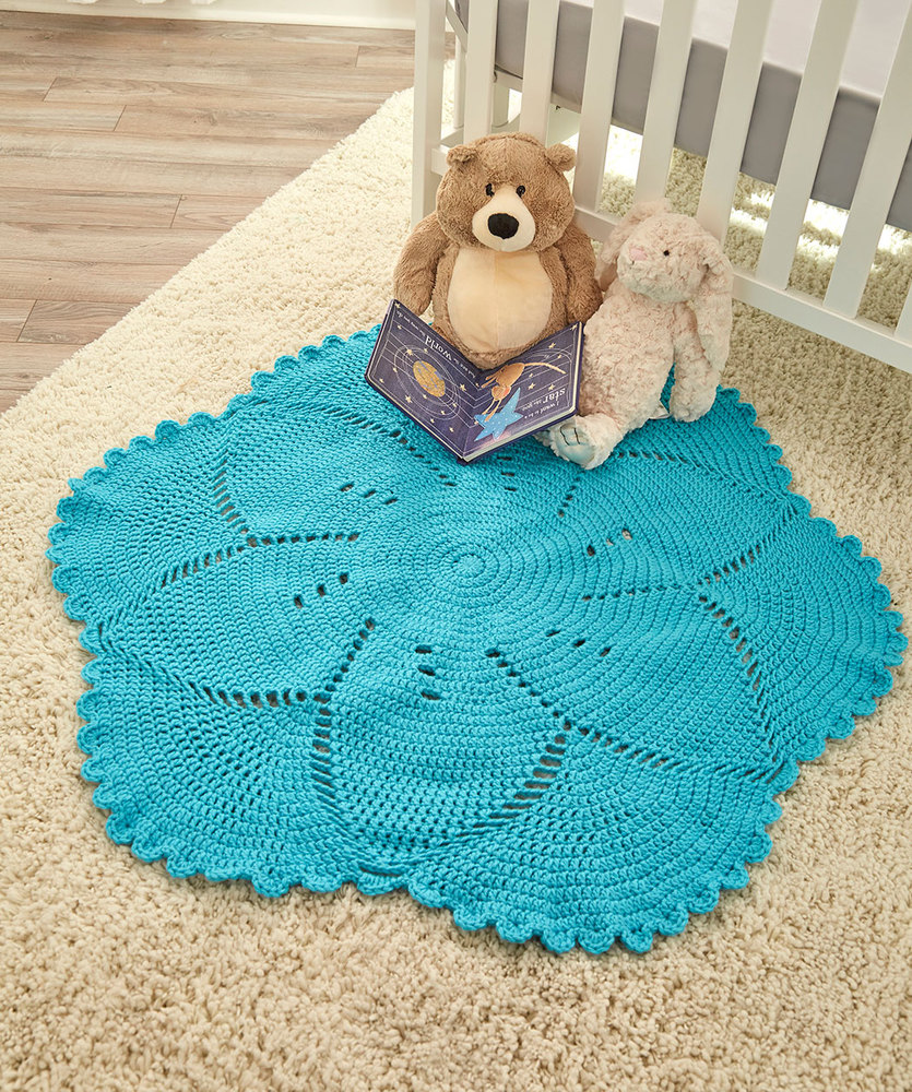 Scalloped Baby Blanket Free Crochet Pattern