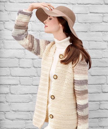 Classy Cardi Free Crochet Pattern