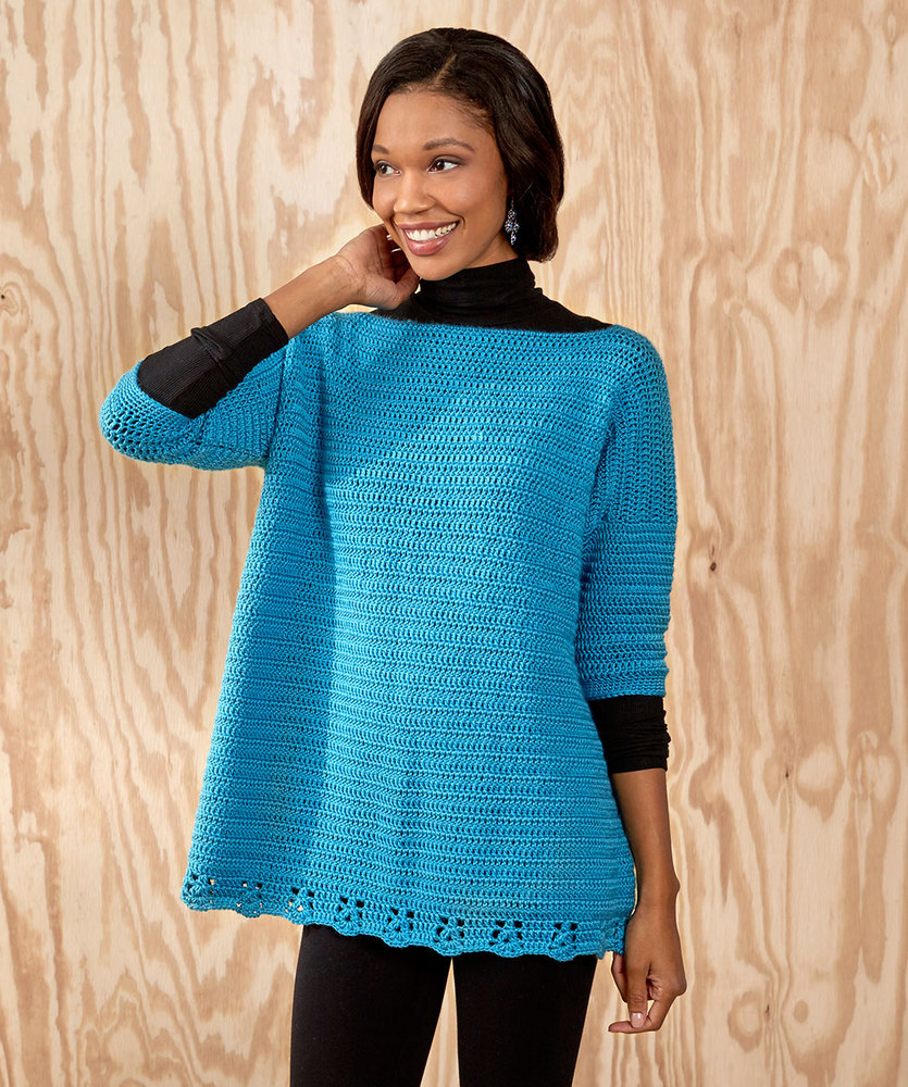 Relax-and-Unwind Sweater Free Crochet Pattern