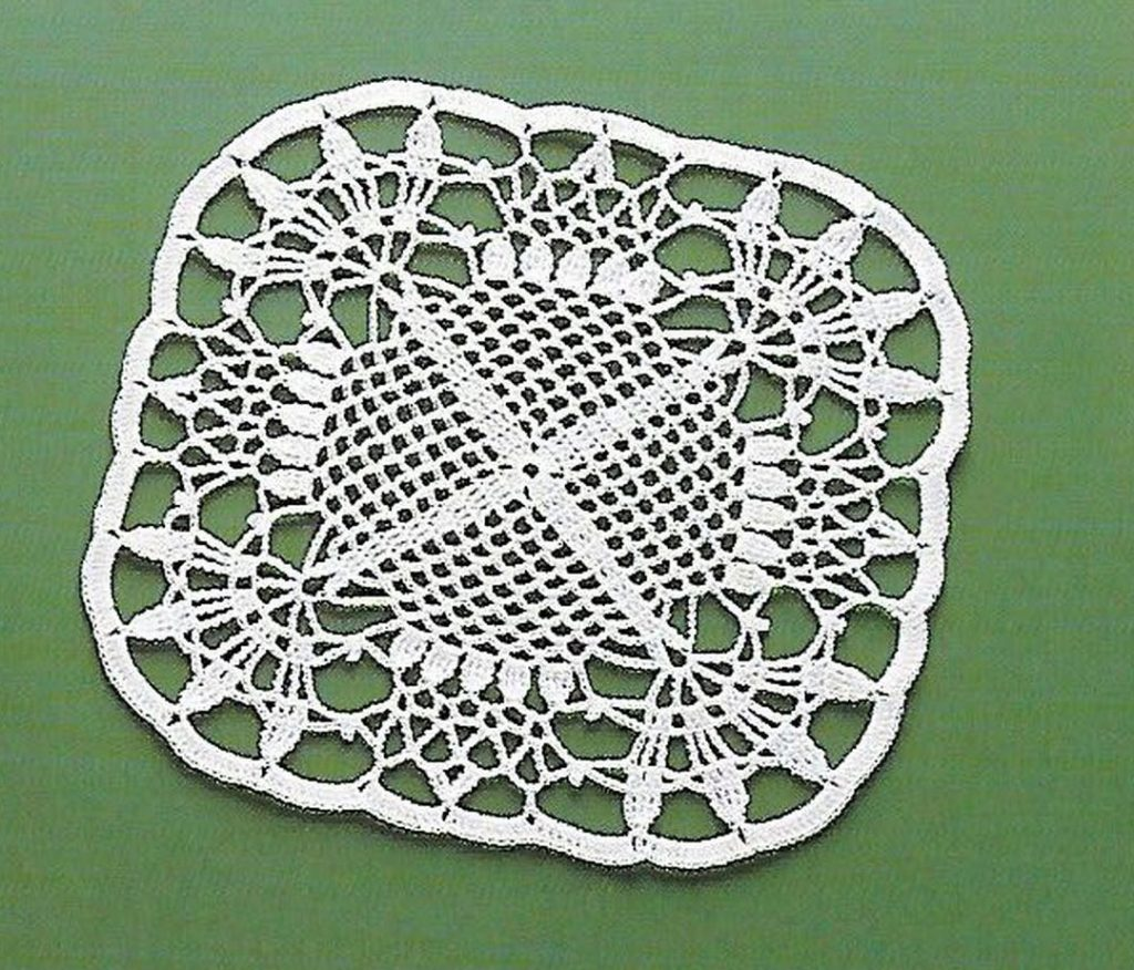 Beautiful Lace Square Crochet Pattern