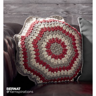 Bernat Puffed Up Crochet Pillow Free Pattern
