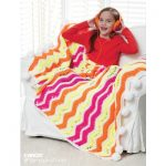 Bright Zig Zag Stripes Crochet Blanket Free Pattern