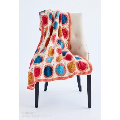 Caron Circle Takes the Square Crochet Blanket Free Pattern