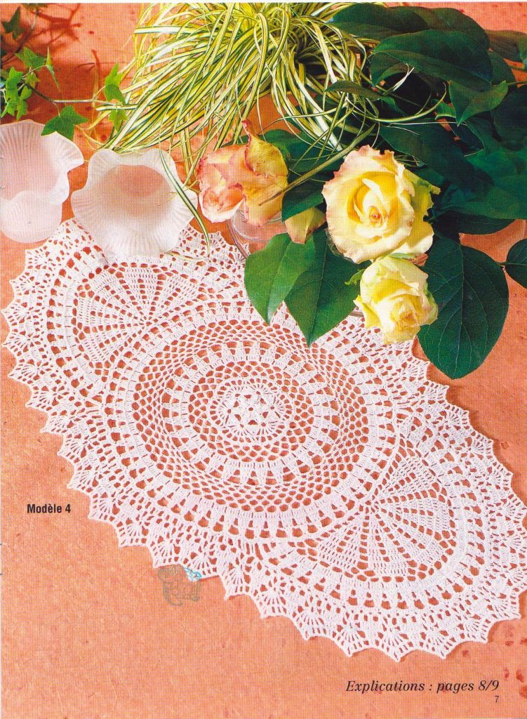 Circle Oval Crochet Doily Pattern