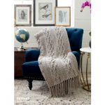Crochet Cablework Blanket Free Intermediate Pattern