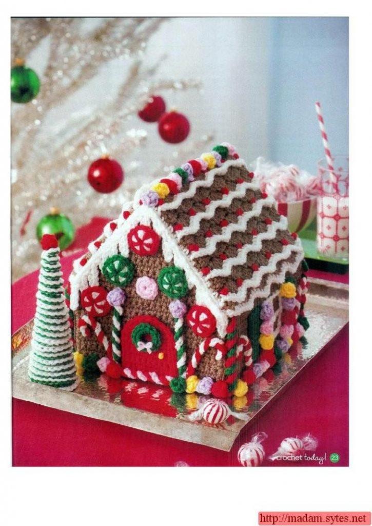 gingerbread house crochet pattern