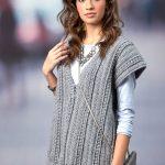 Deep Vee Vest Free Crochet Pattern