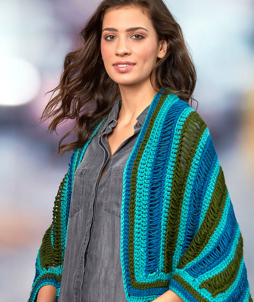 Dropstitch Cocoon Sweater Free Crochet Pattern