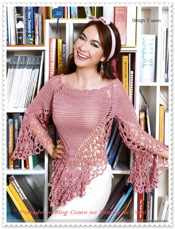 Fancy and Pretty Crochet Top Pattern