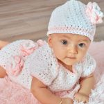 Floral Onesie & Hat Free Baby Crochet Pattern