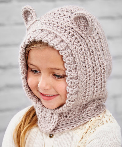Happy Hoodie Hat Free Crochet Pattern for Kids