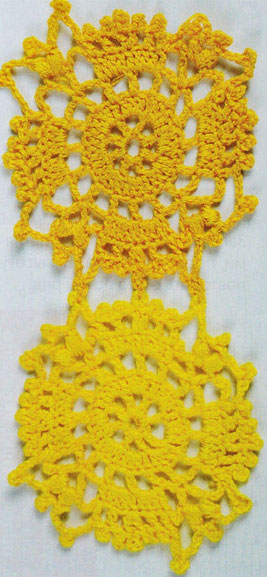 Lacy Circles Crochet Diagram