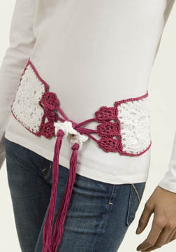 Millefilli Fine Flower Belt/Scarf free crochet pattern