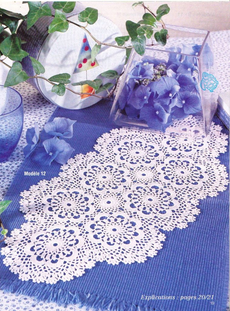 Oval Flowers Crochet Doily Pattern
