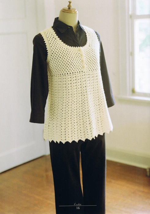 Pretty Crochet Vest Pattern For Women ⋆ Crochet Kingdom
