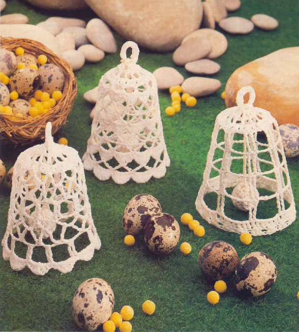 Pretty Lace Crochet Christmas Bells