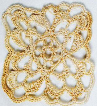 Pretty Lace Square Crochet Pattern