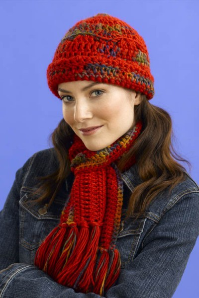 Print Crochet Hat & Scarf Free Pattern
