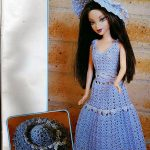 Romantic Crochet Hat and Dress for Barbie