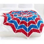 Spiderweb Crochet Blanket for Kids Free Pattern