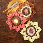Woodsy Sunflower Crochet Dishcloths Free Pattern