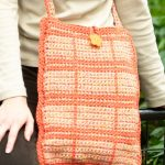 Outlined Squares Shoulder Bag Free Crochet Pattern