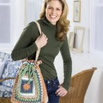 Granny Drawstring Tote Bag Free Crochet Pattern