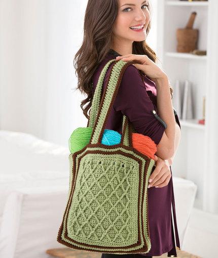 Latticework Shoulder Bag Free Crochet Pattern