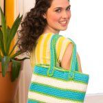 Striped Tote Bag Free Crochet Pattern