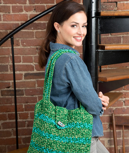 Trendy Tote Bag Free Crochet Pattern