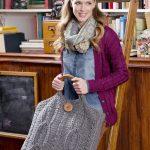 Plus Size Cable Bag Free Crochet Pattern