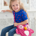 Wise Owl Tote Bag Free Crochet Pattern for Girls