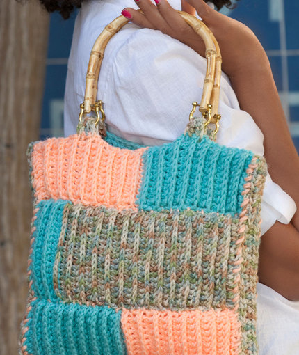 Ribbed Project Bag Free Crochet Pattern