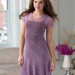 Dress with Flare Free Crochet Pattern
