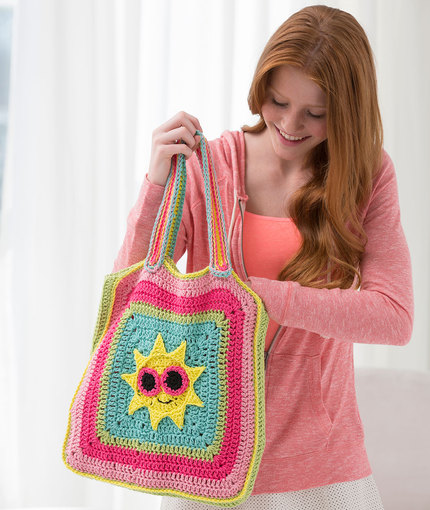 Sunny Day Tote Bag Free Crochet Pattern for Girls