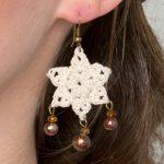 Dangling Star Earrings Free Crochet Pattern