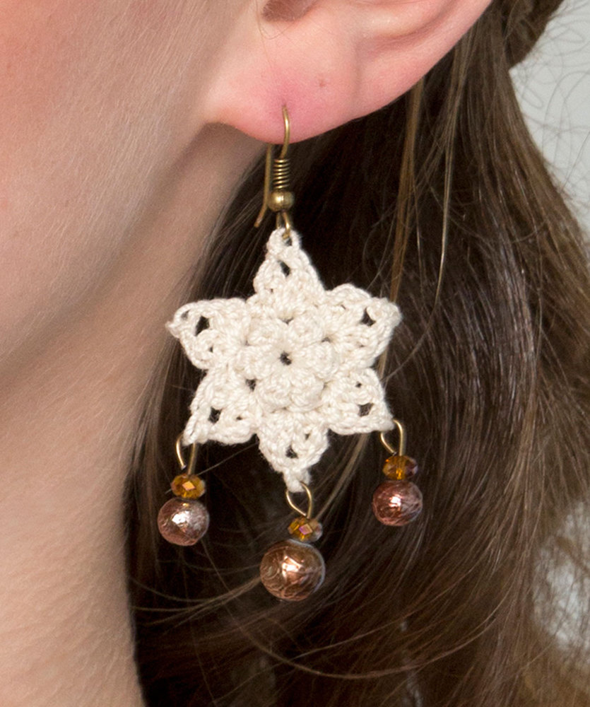Crochet earrings crochet kingdom 8 free crochet patterns dangling star earrings free crochet pattern dt1010fo