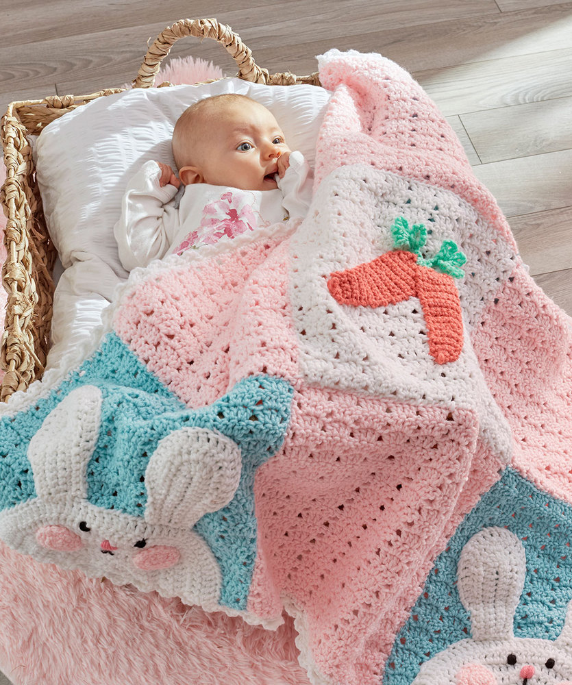 Luv My Bunny Blanket Free Crochet Pattern