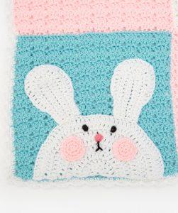 Luv My Bunny Blanket Free Crochet Pattern