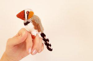 Amigurumi Zebra Finch Free Crochet Pattern